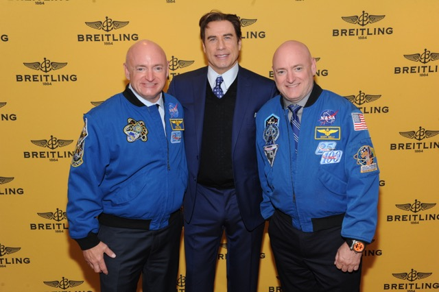 Mark Kelly, John Travolta, Scott Kelly