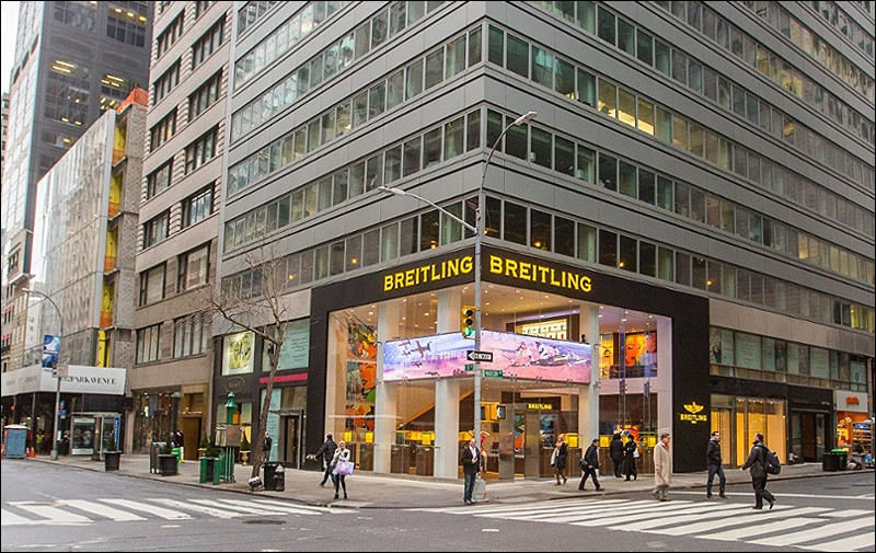 The new Breitling boutique in NYC is the world's largest Breitling store